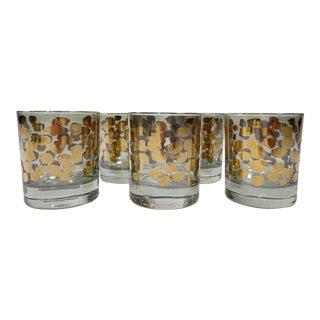 Gold Leopard Print Cocktail Glasses, S/5 For Sale