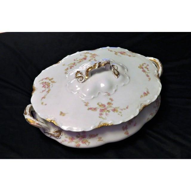 Ceramic Haviland Limoges France Oval Covered Vegetable Bowl Schleiger 233a For Sale - Image 7 of 7