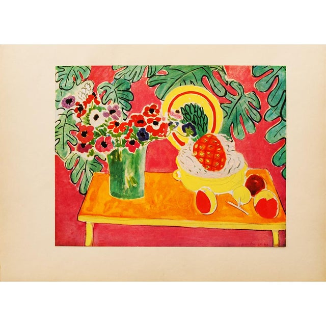 "Lithograph Henri Matisse Original ""The Pineapple"" Swiss Period Lithograph, C. 1940s For Sale - Image 7 of 7"