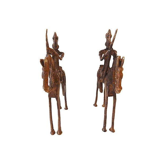 African Dogon Bronze Horseman Mali - Pair For Sale - Image 5 of 8