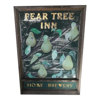 """Vintage Hand-Painted """"Home Brewery"""" Metal Sign"""