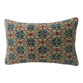 Vintage Turkish Decorative Handmade Pillow Cover - 12ʺW × 20ʺH For Sale