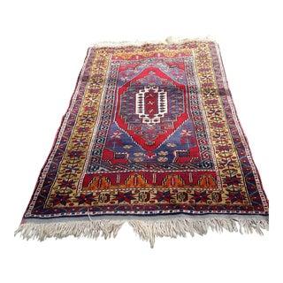 """Vintage Anatolian Oushak Rug - 6'2"""" x 3'5"""""""