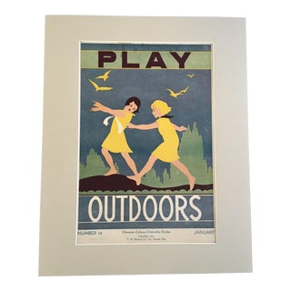 """Vintage 1930's """"Play Outdoors"""" Classroom Poster"""