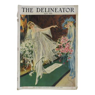Antique 1919 Delineator Wedding Fashion For Sale