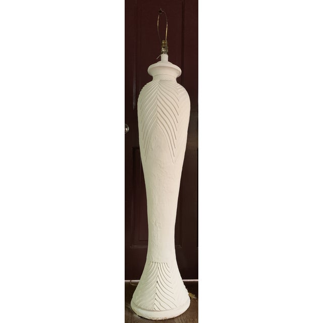 Deco Carved Plaster Floor Lamps For Sale - Image 11 of 11