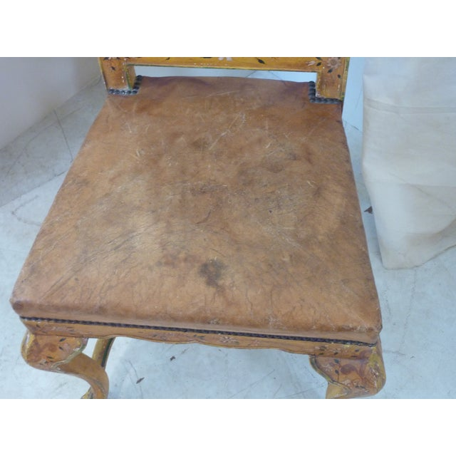 Late 19th Century Antique French Painted Side Chair For Sale - Image 4 of 8