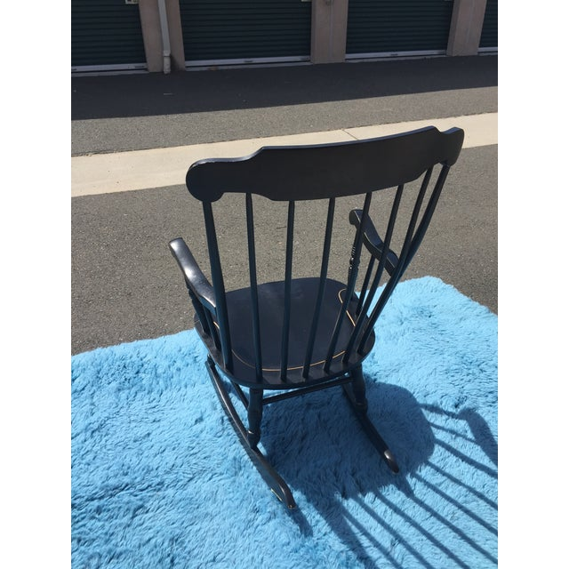 Outstanding U S Naval Academy Captains Wood Rocking Chair Dailytribune Chair Design For Home Dailytribuneorg