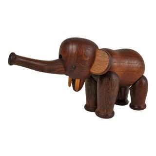 Vintage Kay Bojesen Wood Elephant Figure