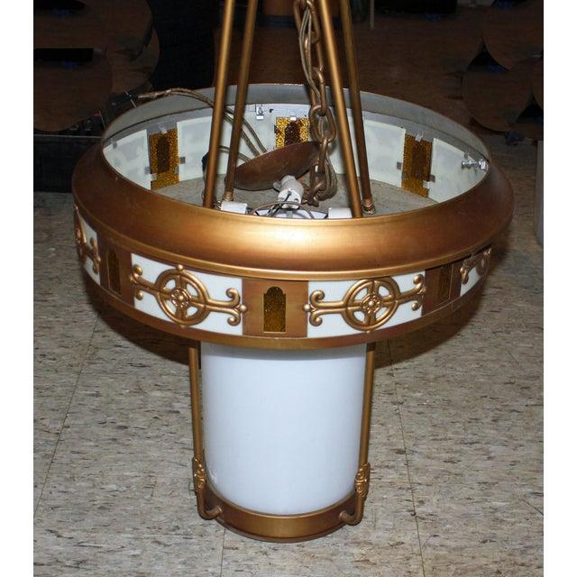 Art Deco Style Large Pendant Light - Image 5 of 9