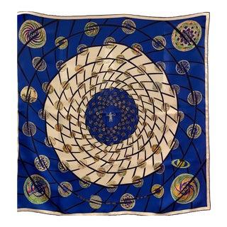 Hermes Astronaut Themed Silk Scarf For Sale