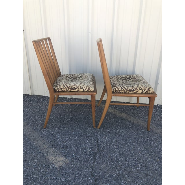 Mid-Century Modern Mid Century Modern Brown Saltman Dining Chairs - a Pair For Sale - Image 3 of 12