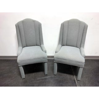 High-End Grey Channel Back Parsons Chairs - Pair 3 Preview