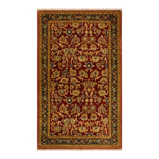 Istanbul Sidney Red/Teal Turkish Hand-Knotted Rug -3'2 X 5'1