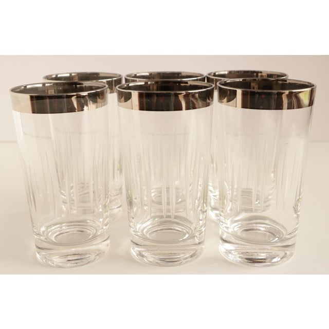 Mid 20th Century Dorothy Thorpe Style Etched Glasses - Set of 6 For Sale - Image 5 of 5