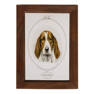 The Hound Reproduction Mango Wood Framed Print For Sale