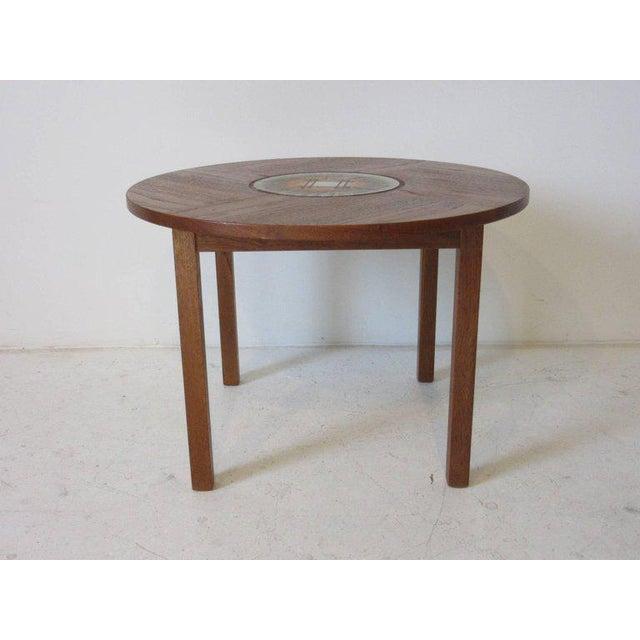 1950s Tue Poulsen Tile Topped Danish Teak Side Table For Sale - Image 5 of 5