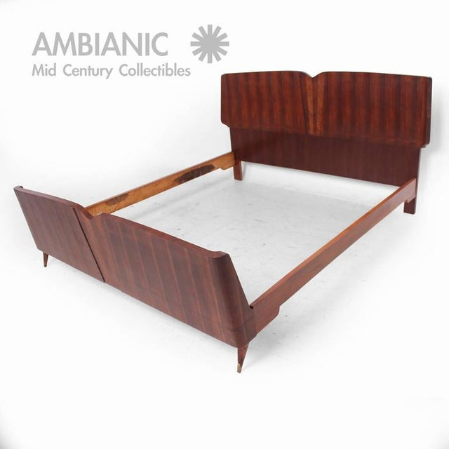 Italian Mid-Century Modern Italian Bed Frame For Sale - Image 3 of 9