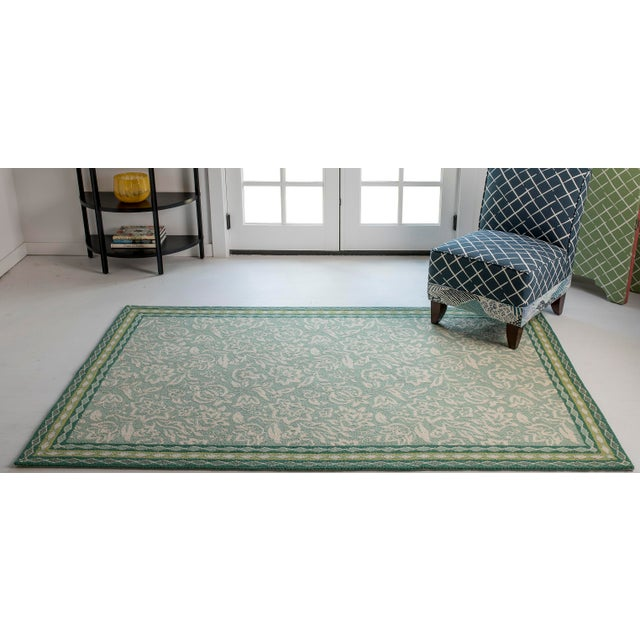 Fiber Madcap Cottage Under a Loggia Rokeby Road Green Indoor/Outdoor Area Rug 5' X 8' For Sale - Image 7 of 9
