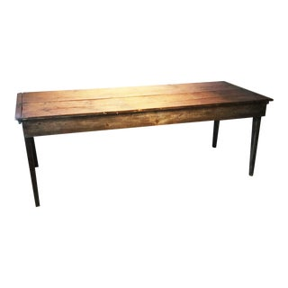 Texas Original Antique Pine Farm Table Circa 1880 For Sale