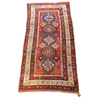 Early 20th Century Antique Caucasian Runner Rug - 5′3″ × 9′11″ For Sale