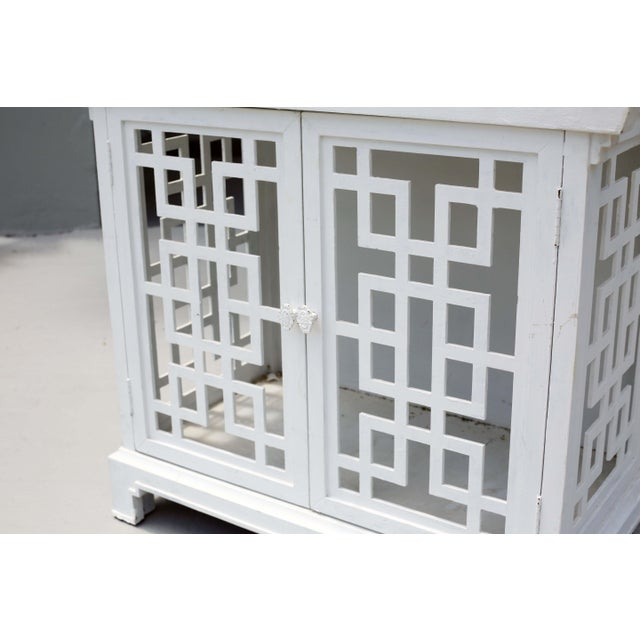 1970s Vintage Fretwork Pagoda Bookcase or Etagere For Sale - Image 5 of 12
