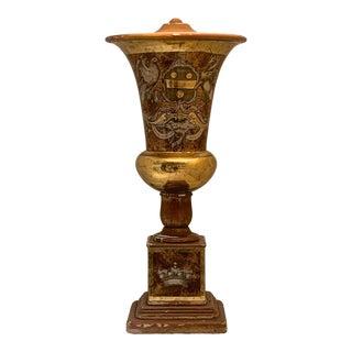 Rare Italian ´Eglomisé Urn Lamp Base For Sale