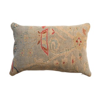Reclaimed Antique Persian Rug Fragment Pillow For Sale