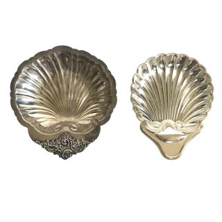 Baroque Wallace and El English Silverplate Shell Dishes For Sale
