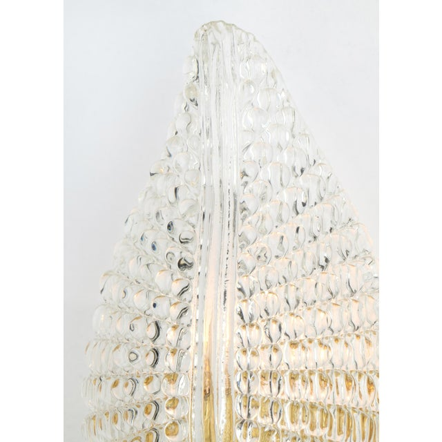 Murano Glass Leaf and Brass Wall Sconces For Sale In Austin - Image 6 of 9