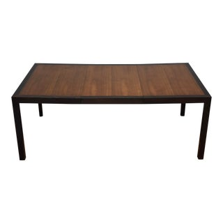 Edward Wormley for Dunbar Mahogany and Walnut Dining Table For Sale