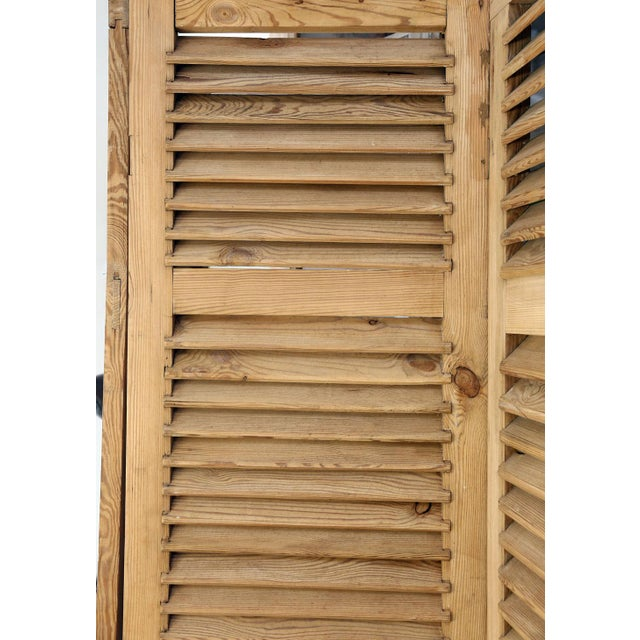 1940s Set of Six Vintage French Shutters For Sale - Image 5 of 13