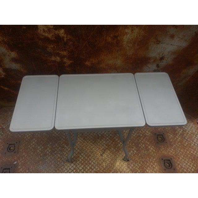 Industrial Drop Leaf Desk & Stool- A Pair - Image 3 of 8