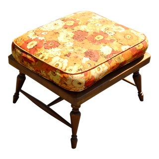 Mid Century Handcrafted Ottoman For Sale