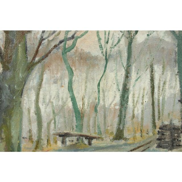 Impressionist Impressionist Forest Landscape by Axel Meyer For Sale - Image 3 of 5