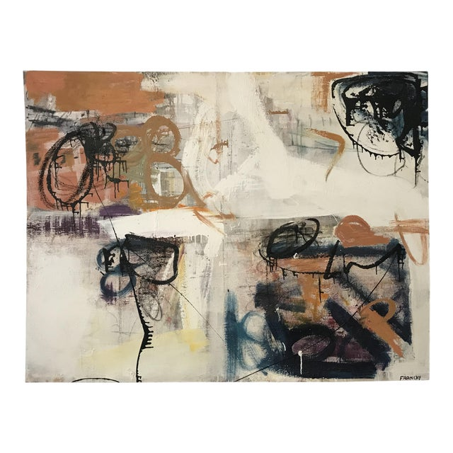 Fine Abstract Oil Painting on Canvas by Franchy For Sale