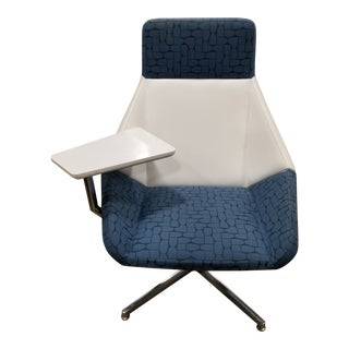 Modern Arcadia Nios Blue and White Tablet Lounge Chair For Sale