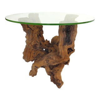 Natural Artist Crafted Grapevine Table Base For Sale