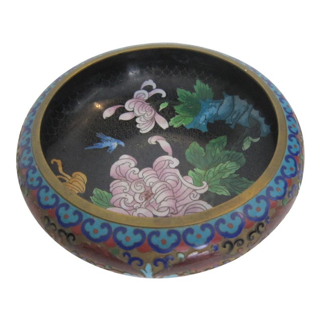 Vintage Chinese Cloisonné Bowl - Image 1 of 5