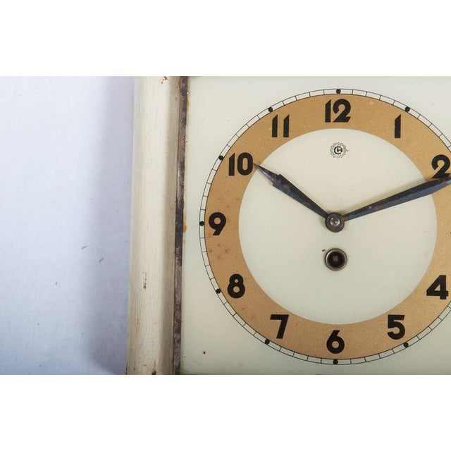 Czech Art Deco Wall Clock from Chomutov, 1930s For Sale - Image 4 of 6