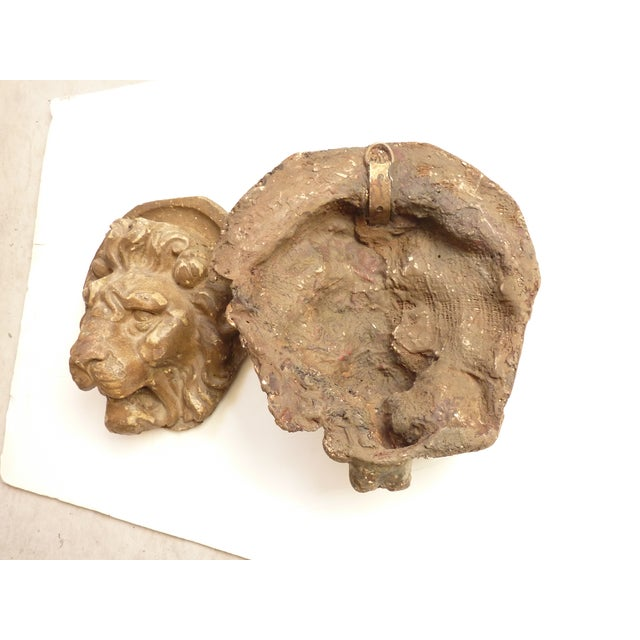 Rococo Wall Mounted Lion Heads - A Pair For Sale - Image 3 of 4