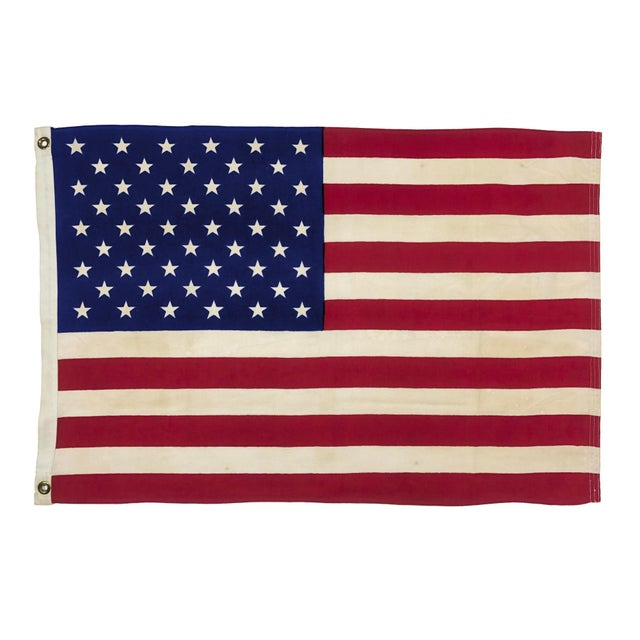 Small Vintage Cotton American Flag For Sale In Los Angeles - Image 6 of 6
