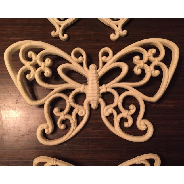 Boho Chic 1970s Boho Chic White Homco Butterfly Wall Decor - 3 Pieces For Sale - Image 3 of 7