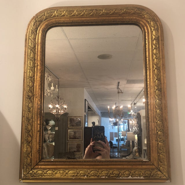 Louis Phillipe Gold Mirror For Sale - Image 10 of 11