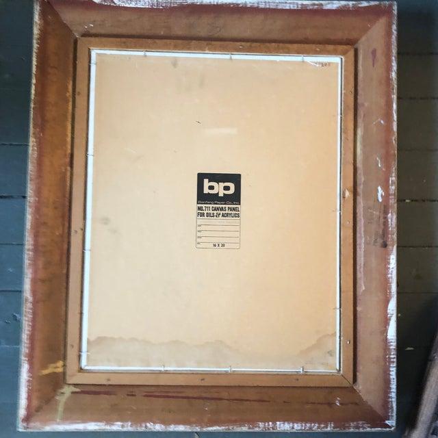 """1970s Original Vintage Impressionist """"Rocks in Stream/River """" Painting Vintage Frame Signed For Sale - Image 5 of 6"""