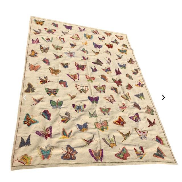 "Handmade Butterfly Kilim Rug - 6'9"" x 9'10"" - Image 3 of 3"