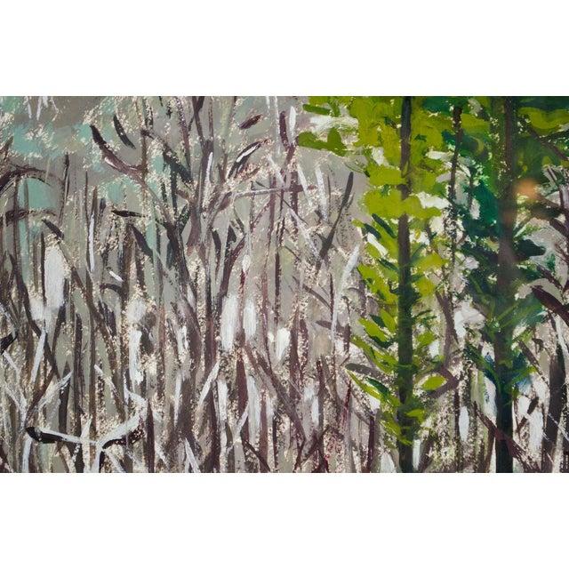 Modern Impressionist Watercolor Mountain Landscape For Sale In Atlanta - Image 6 of 11