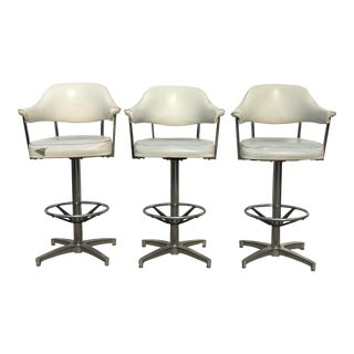 Mid Century Modern Daystrom Chrome Barstools- Set of 3 For Sale