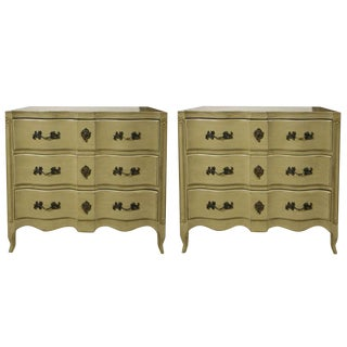 French Provincial Style Painted Chests- A Pair