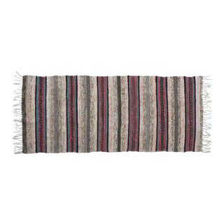 """Handwoven Reversible Vintage Swedish Rug by Scandinavian Made 68"""" x 29"""" For Sale"""